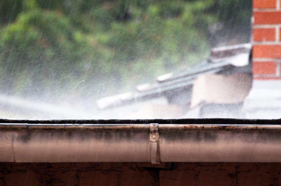 Heavy rain requires proper drainage