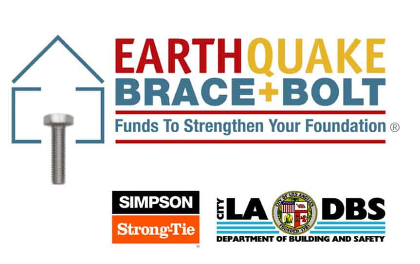 Earthquake Brace and Bolt