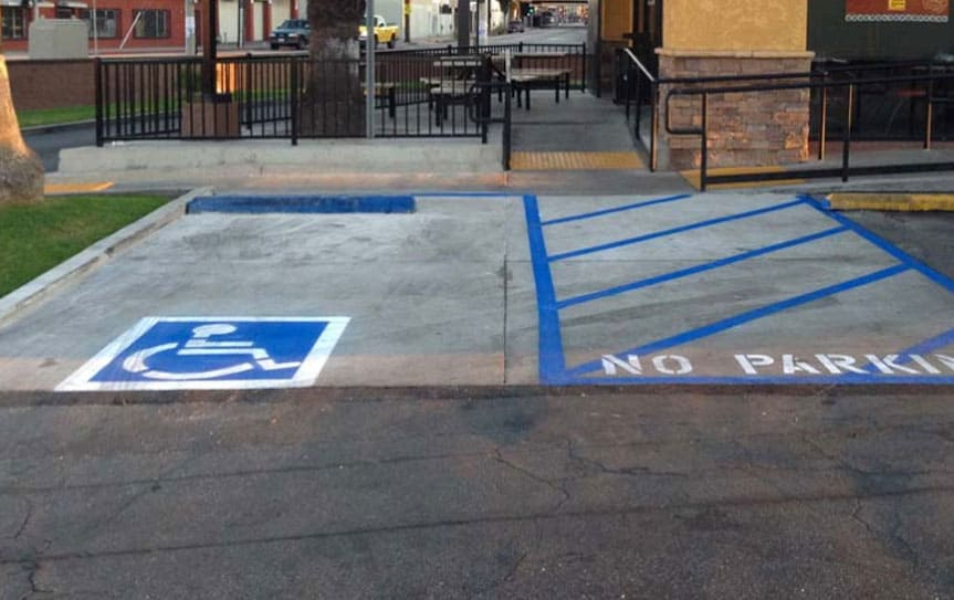 ada compliant parking lot