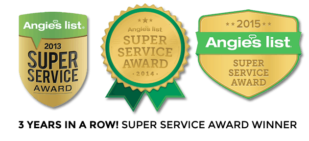 Angie's List Super Services Awards 3 Years IN A ROW!