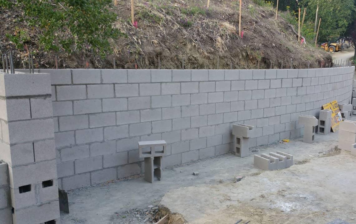 block retaining wall los angeles