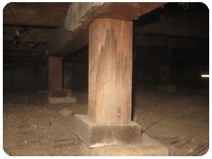 Post and pier repair for Building a house on concrete piers