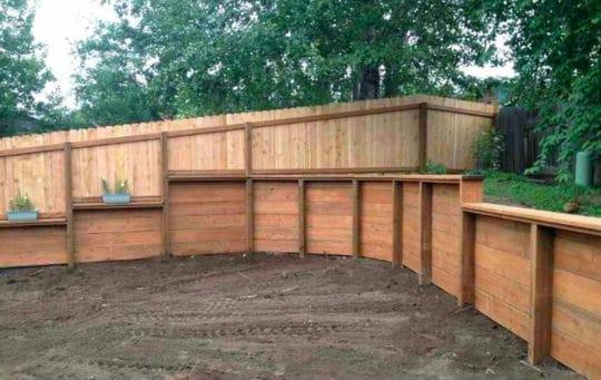 wood retaining wall los angeles