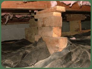 wood floor pier support in los angeles